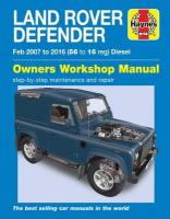 Land Rover Defender Diesel (Feb '07-'16) 56 to 16