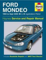 Ford Mondeo Petrol (93 - Sept 00) K To X: 1993 to Sept 2000 (K to X Reg) 4th Revised edition