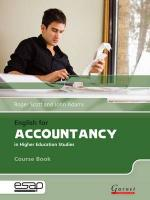 English for Accountancy in Higher Education Studies Student Manual/Study Guide
