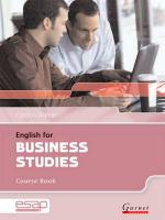 English for Business Studies Course Book plus CDs, Course Book and Audio CDs