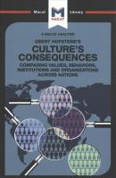 Culture's Consequences: Comparing Values, Behaviors, Institutes and Organizations across Nations