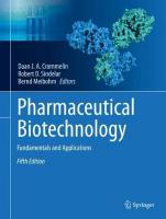 Pharmaceutical Biotechnology: Fundamentals and Applications 5th ed. 2019