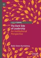 Dark Side of Leadership: An Institutional Perspective 1st ed. 2019