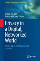 Privacy in a Digital, Networked World: Technologies, Implications and Solutions 2015