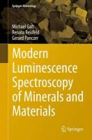 Modern Luminescence Spectroscopy of Minerals and Materials 2015 2nd Revised edition