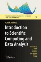 Introduction to Scientific Computing and Data Analysis 1st ed. 2016