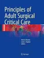 Principles of Adult Surgical Critical Care 2016 1st ed. 2016