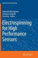 Electrospinning for High Performance Sensors Softcover reprint of the original 1st ed. 2015