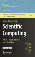 Scientific Computing: Vol. III - Approximation and Integration 1st ed. 2017