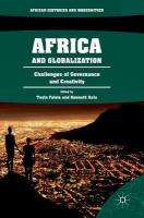 Africa and Globalization: Challenges of Governance and Creativity 1st ed. 2018