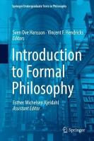 Introduction to Formal Philosophy 1st ed. 2018