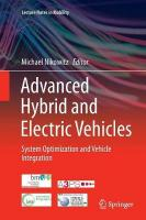 Advanced Hybrid and Electric Vehicles: System Optimization and Vehicle Integration Softcover reprint of the original 1st ed. 2016