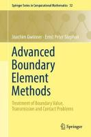Advanced Boundary Element Methods: Treatment of Boundary Value, Transmission and Contact Problems 1st ed. 2018