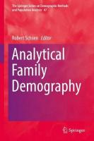 Analytical Family Demography 1st ed. 2019