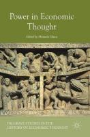 Power in Economic Thought 1st ed. 2018