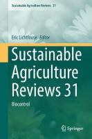 Sustainable Agriculture Reviews 31: Biocontrol 1st ed. 2018