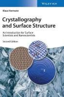 Crystallography and Surface Structure: An Introduction for Surface Scientists and Nanoscientists 2nd Edition