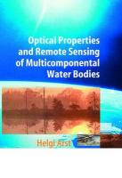 Optical Properties and Remote Sensing of Multicomponental Water Bodies Softcover reprint of hardcover 1st ed. 2003