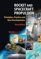 Rocket and Spacecraft Propulsion: Principles, Practice and New Developments Softcover reprint of hardcover 3rd ed. 2009