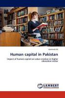 Human Capital in Pakistan