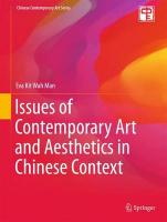 Issues of Contemporary Art and Aesthetics in Chinese Context 2015 1st ed. 2015