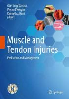 Muscle and Tendon Injuries: Evaluation and Management 2017 1st ed. 2017
