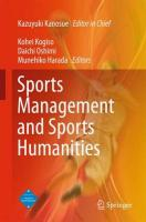 Sports Management and Sports Humanities 2015 1st ed. 2015