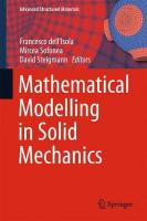 Mathematical Modelling in Solid Mechanics 1st ed. 2017