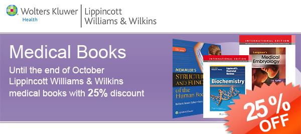 Lippincott Williams & Wilkins medical books with special prices